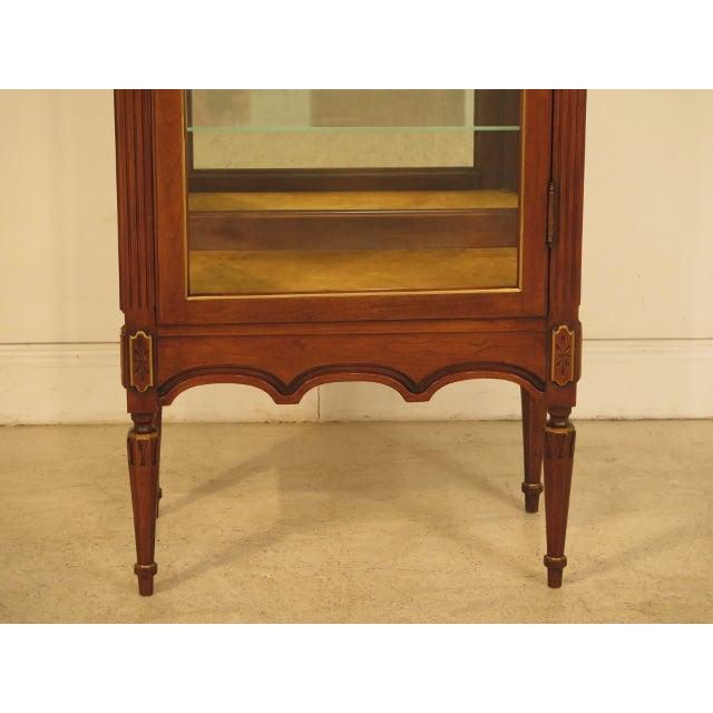 Louis XVI-Style Walnut Vitrine Curio Cabinet - Image 3 of 11