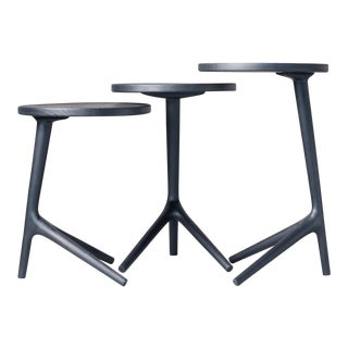 Contemporary Tripod Nesting End Tables - Set of 3