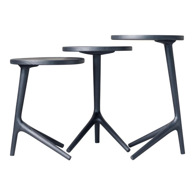 Contemporary Tripod Nesting End Tables - Set of 3 For Sale
