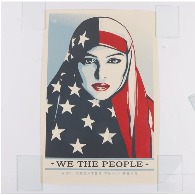 "Three Shepard Fairey Serigraph Prints ""We the People"" For Sale - Image 10 of 13"