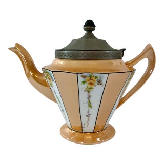 1930s Fraunfelter China Art Deco American Teapot For Sale