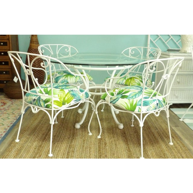 Russell Woodard Woodard Patio Dining Set - 5 Piecces For Sale - Image 4 of 4