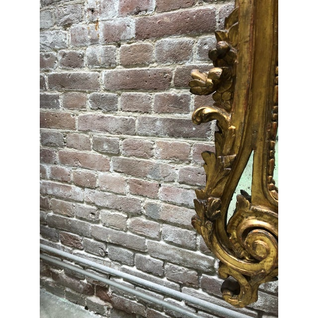 Mid 18th Century 18th Century Carved Gilt Wood Louis XV Mirror, Provenance Paris France For Sale - Image 5 of 10