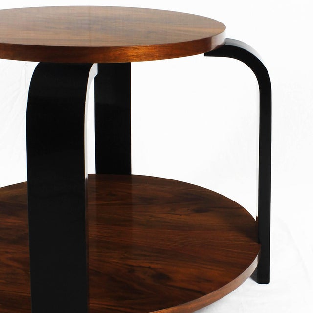 1930´s Art Deco Sidetable, ebonized beech and walnut - France For Sale - Image 4 of 6