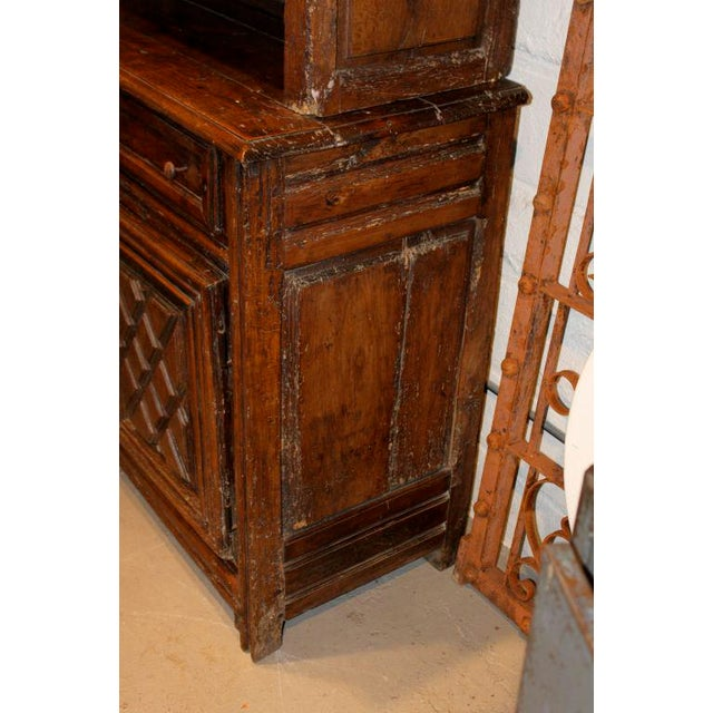 Oak 19th Century French Walnut 4 Door Cabinet For Sale - Image 7 of 11