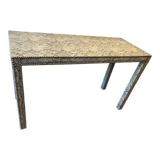 1960s Contemporary Python-Covered Parson-Style Console Table For Sale