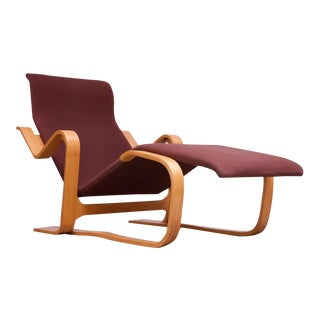 "Vintage Marcel Breuer Bent Plywood Chaise Longue / ""Long Chair"" for Knoll For Sale"