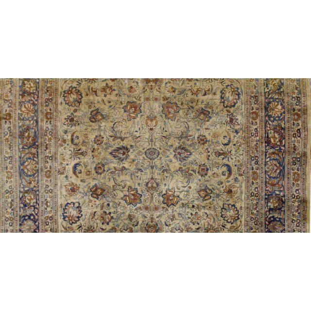 Antique Persian Mashad Rug with Modern Style in Soft Colors For Sale - Image 4 of 5
