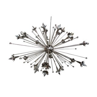 Jonathan Adler Robert Abbey Sputnik Chandelier Pendant Light Polished Nickel For Sale