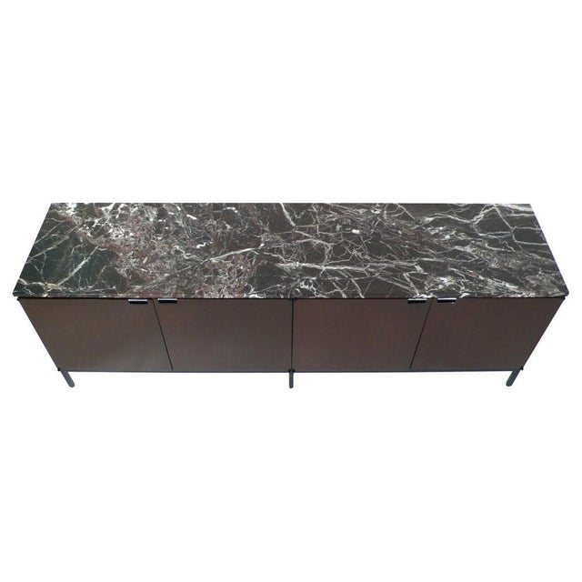 Modern Florence Knoll Italian Marble Credenza For Sale - Image 3 of 9