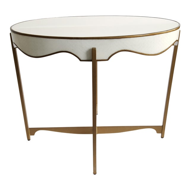 Gabby Trudy Oval Side Table For Sale