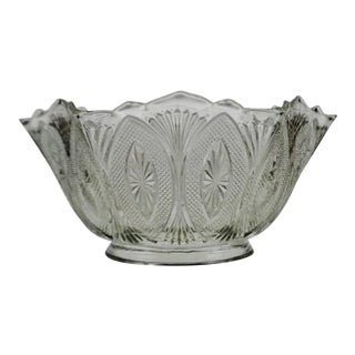 Victorian Style Pressed Glass Gas Light Shade For Sale
