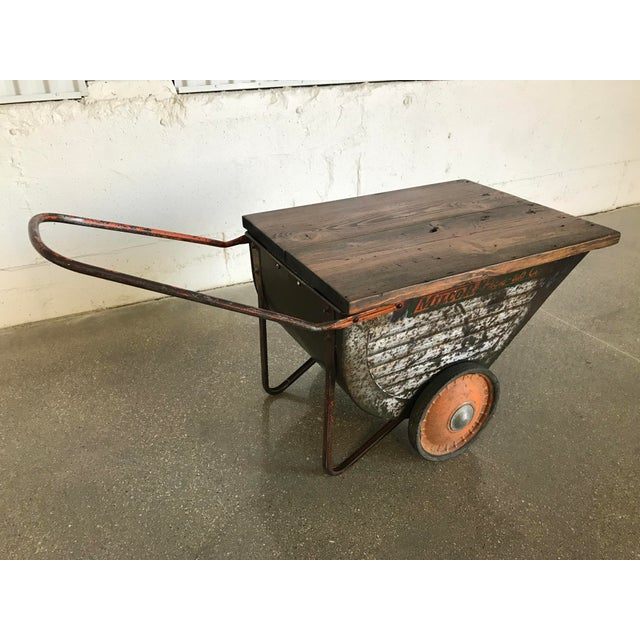 Vintage Industrial Cart Table or Beverage Cart - Image 2 of 10