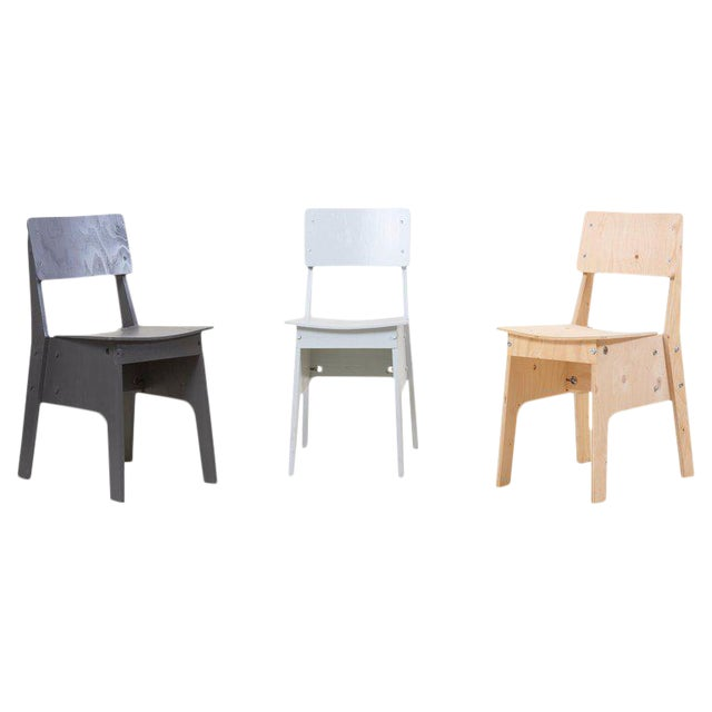 1 of 3 Crisis Chairs by Piet Hein Eek in Plywood For Sale