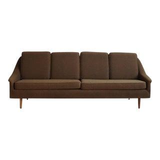Vintage Green Upholstered Sofa For Sale