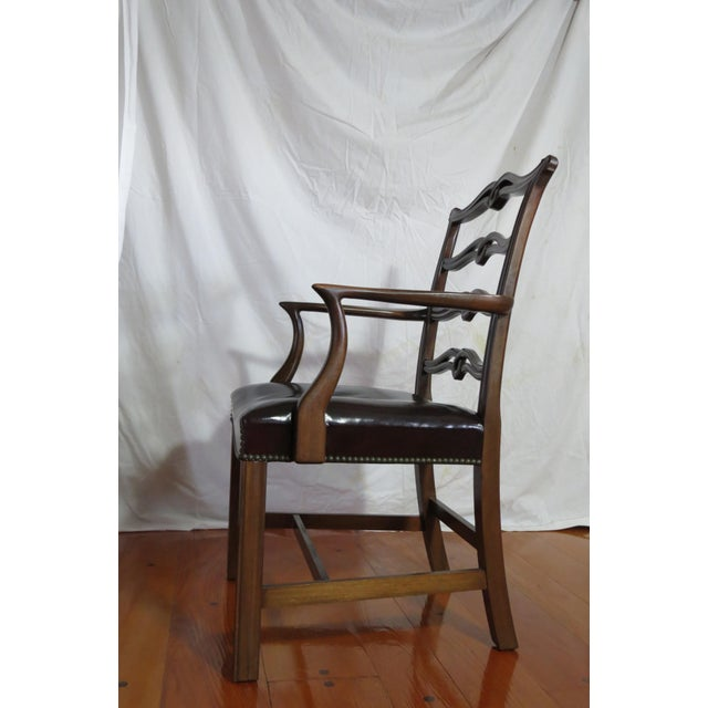 Animal Skin Chippendale Ribbon Back Dining Chairs - Set of 8 For Sale - Image 7 of 13