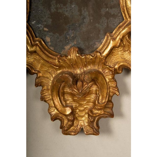 18th Century Rococo Giltwood Mirrors - A Pair - Image 4 of 9