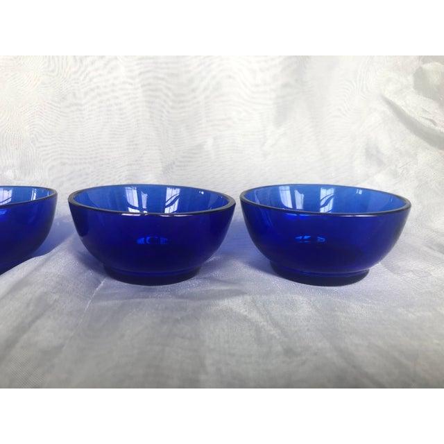 1960s Mini Cobalt Blue Glass Bowls- Set of 4 For Sale - Image 4 of 13