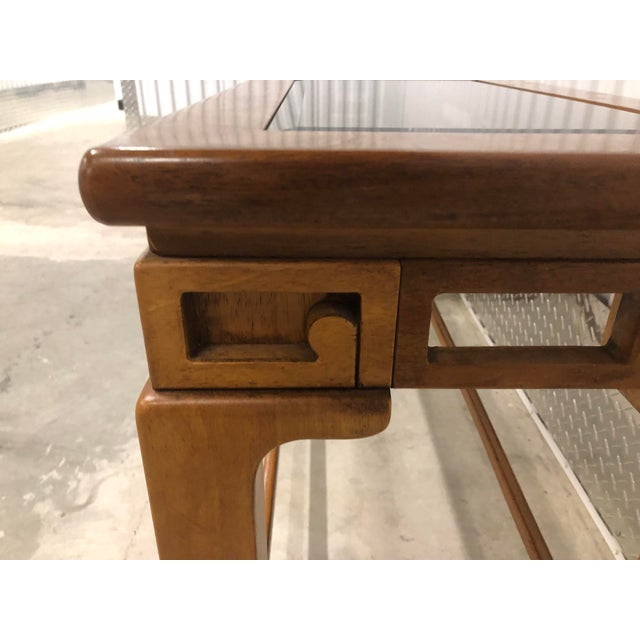 Burlwood 1970s Chinese Style Sofa Console Tables - a Pair For Sale - Image 7 of 12