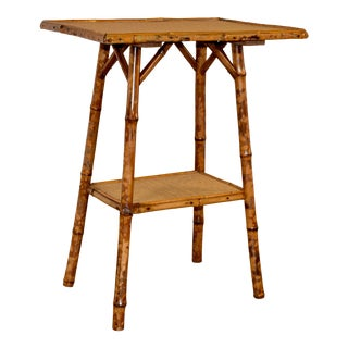 19th C Tortoise Bamboo Table For Sale