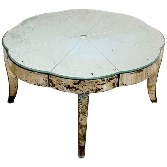 Wood Period French or Italian Deco Mirrored Coffee Table For Sale - Image 7 of 7