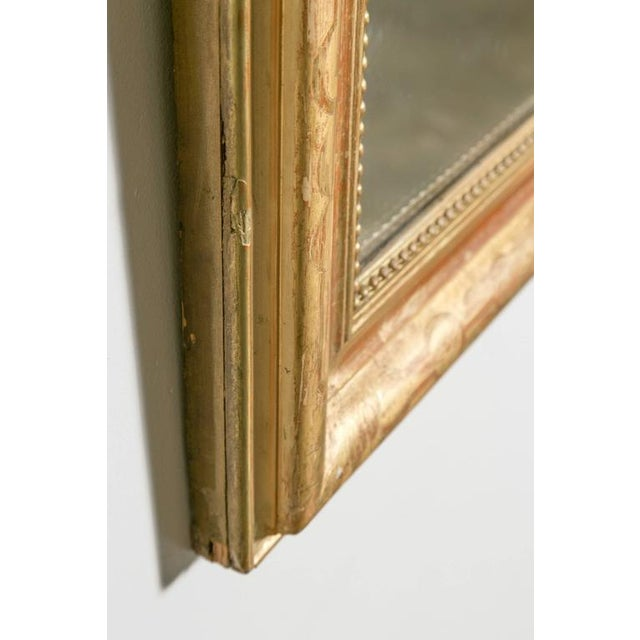Gold Grand Antique French Louis Philippe Period Mirror For Sale - Image 8 of 10