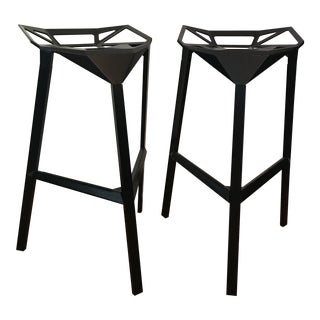 Industrial Modern Aluminum Bar Stools - a Pair For Sale