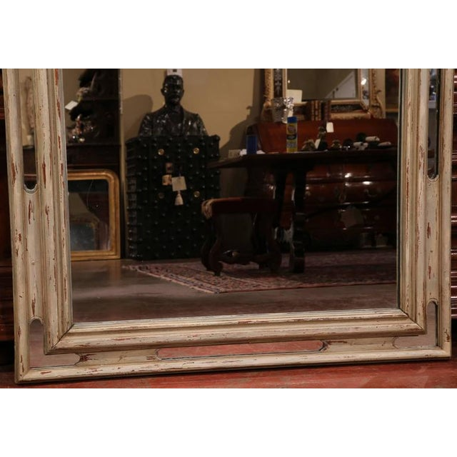 Early 19h Century French Régence Carved Painted and Gilt Mirror From Lyon For Sale - Image 5 of 6
