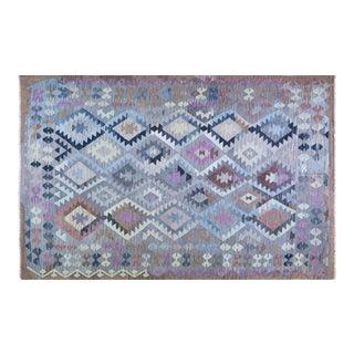 "Vintage Afghan Hand Made Organic Wool Maimana Kilim,6'7""x9'6"" For Sale"