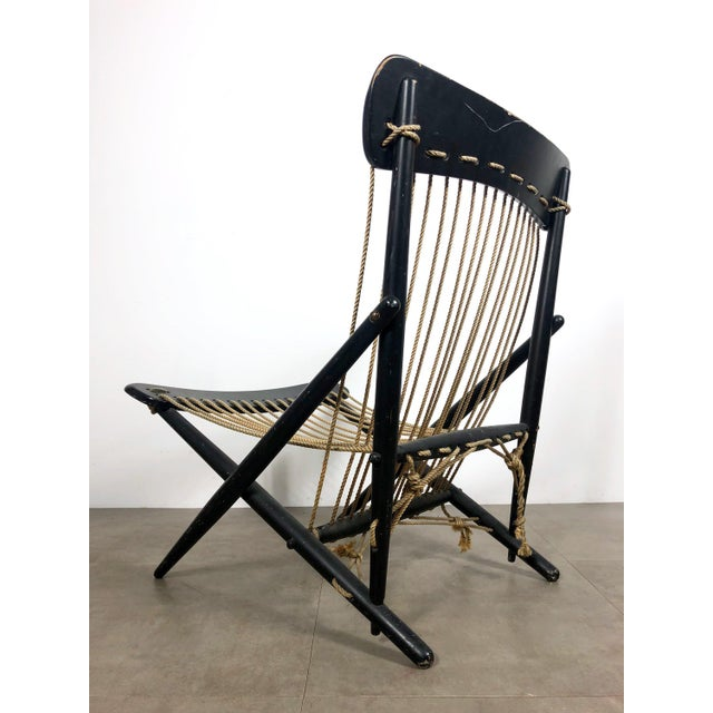 Maruni Rare Maruni Rope Lounge Chair, Japan Circa 1950's For Sale - Image 4 of 8