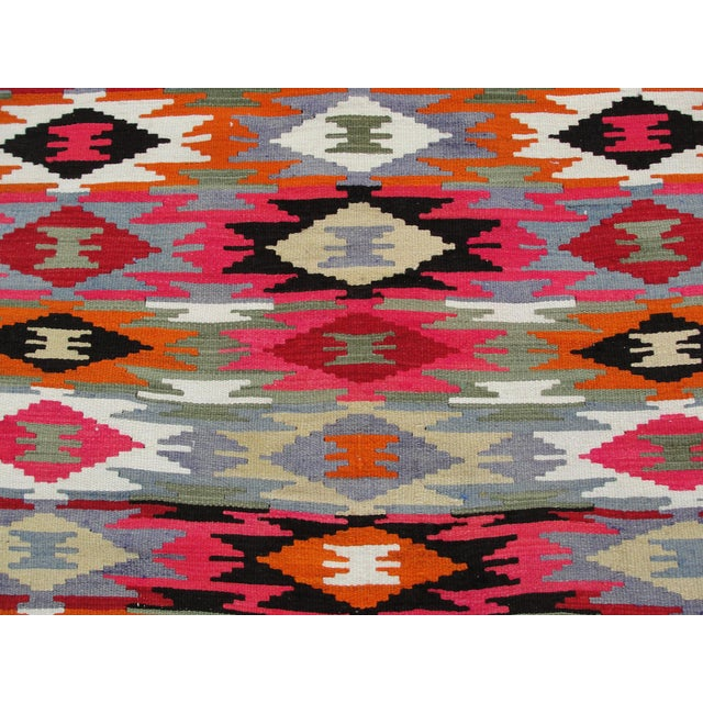 Vintage Turkish Kilim Rug - 4′4″ × 6′10″ For Sale - Image 5 of 11