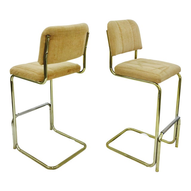 Vintage Mid-Century Modern Bar Stools - A Pair For Sale