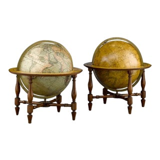 JOHN AND WILLIAM CARY TABLE GLOBES For Sale