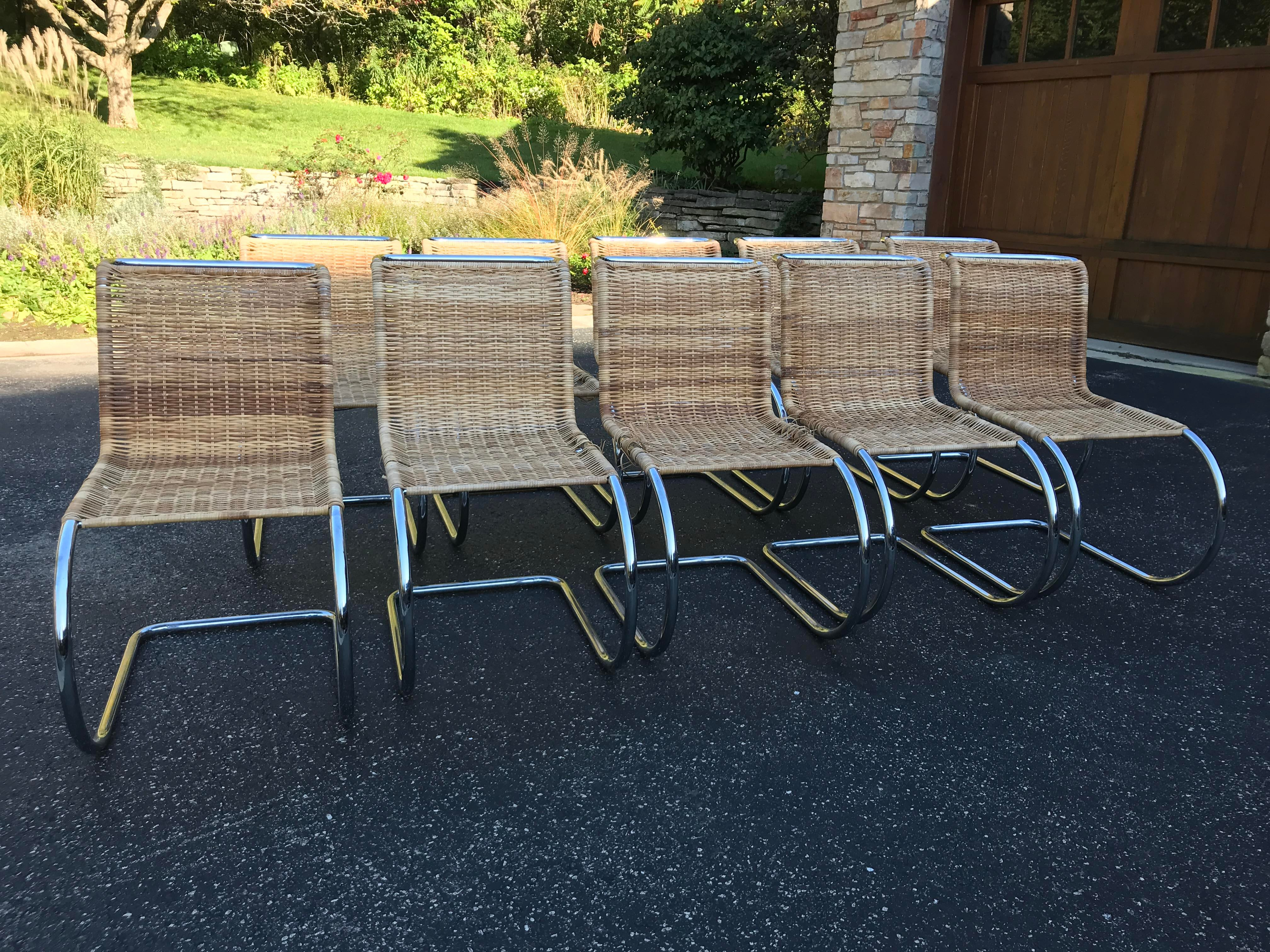 Mies Van Der Rohe Mr Reproduction Chairs   Set Of 10   Image 2 Of 11