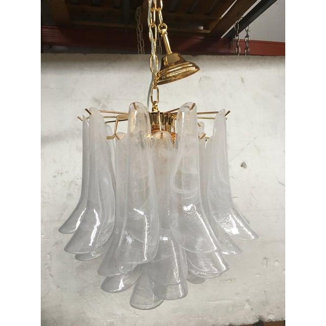 """Mazzega Style """"Petali"""" Selle Murano Glass Chandelier For Sale - Image 10 of 10"""