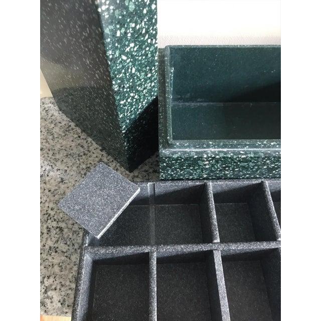 Post Modern Green Jesmonite Terrazzo Stone Jewelry Box For Sale - Image 9 of 10