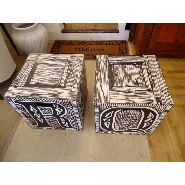 Edward Gorey Cube End/Coffee Tables-Set of 3 For Sale - Image 4 of 7