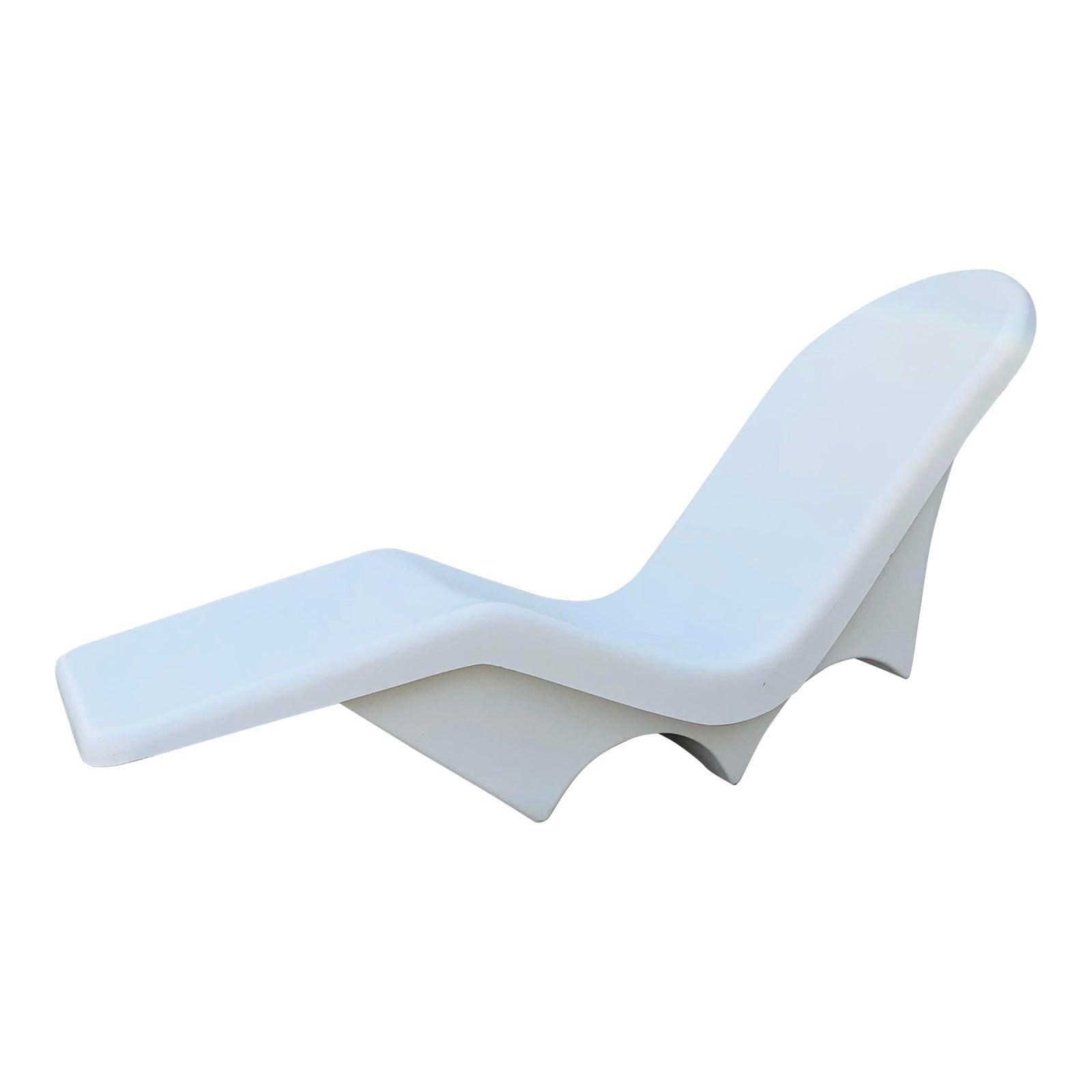 Mid-Century Fibrella Fiberglass Pool Sun Chaise Lounge by ...