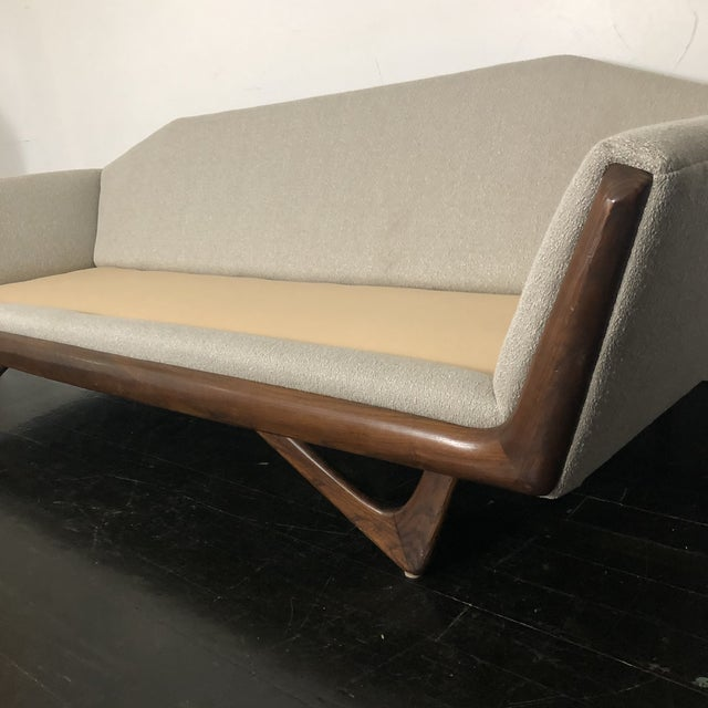 1960s Restored Adrian Pearsall Gondola Sofa For Sale - Image 11 of 13