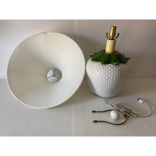 Italian Strawberry Lamp & Shade For Sale - Image 6 of 10