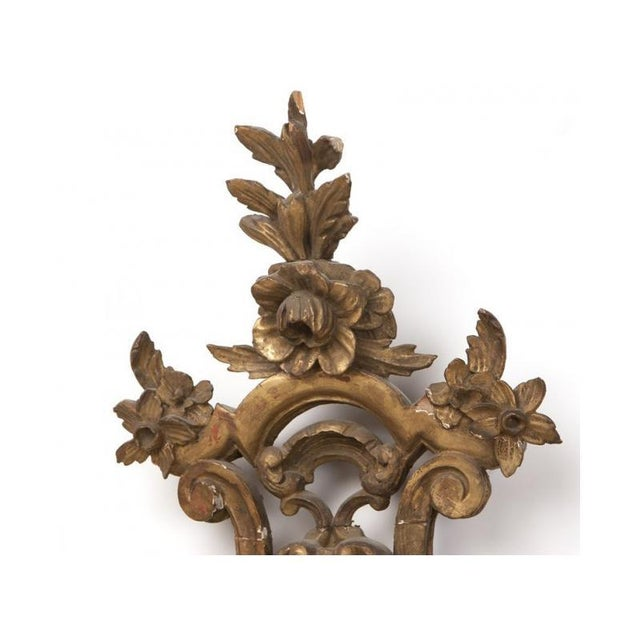 Baroque Italian Baroque Style Carved Giltwood Mirror, 19th Century For Sale - Image 3 of 5