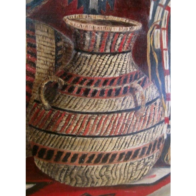 Paint Native American Basketry Painting For Sale - Image 7 of 7