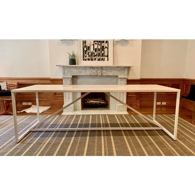 Blu Dot Vintage BluDot Strut Table For Sale - Image 4 of 4