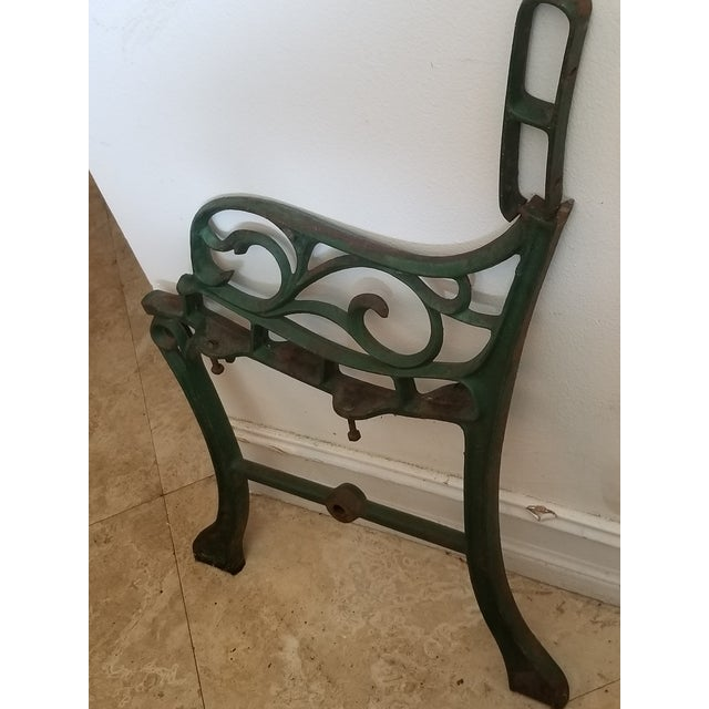 Vintage Iron Park Bench For Sale - Image 9 of 9