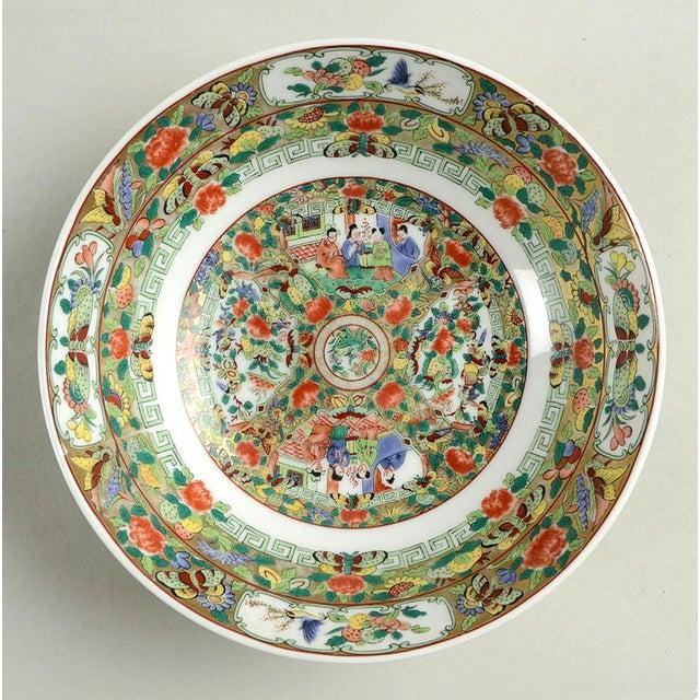 Asian 1970s Hong Horizons Canton Rose Individual Bowl - Set of 8 For Sale - Image 3 of 8