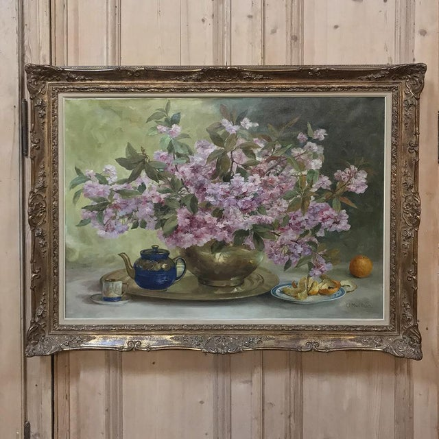 Russian Framed Oil Painting on Canvas For Sale - Image 11 of 11