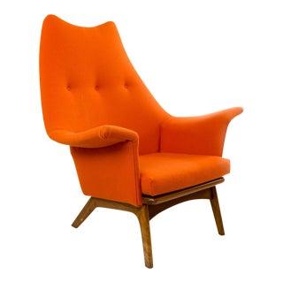 Adrian Pearsall Orange Wingback Lounge Chair