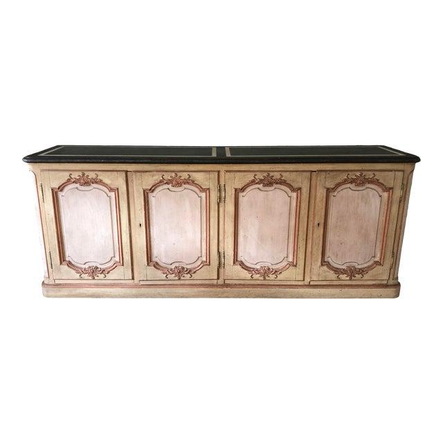 1965 Hollywood Regency Baker Furniture Painted Credenza For Sale