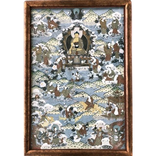 Early 20th Century Tibetan Buddhist Thangka Painting For Sale