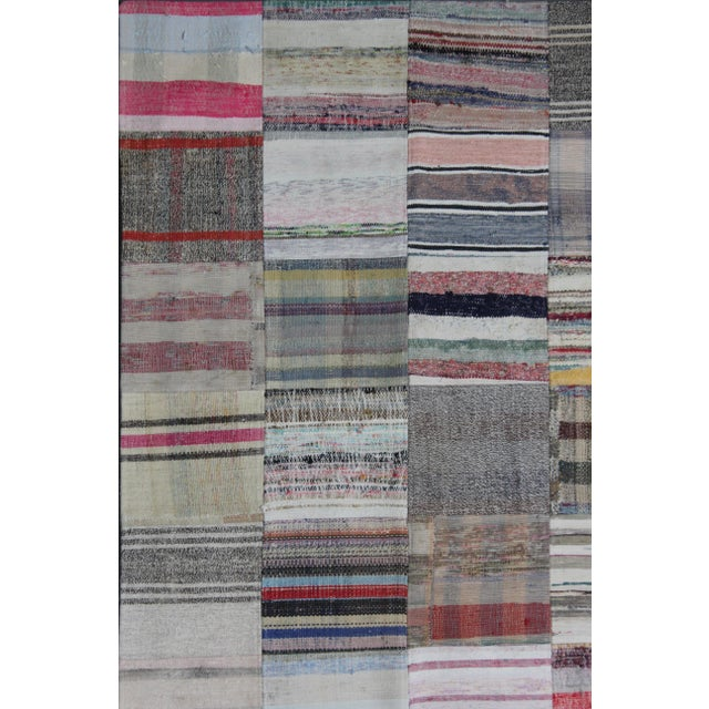 Islamic Hand Knotted Patchwork Rug - 8′5″ × 10′ For Sale - Image 3 of 3